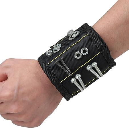 Bracelet Magnétique Aimant Porte Outils vis Clous Bricolage Armband 15 Aimants
