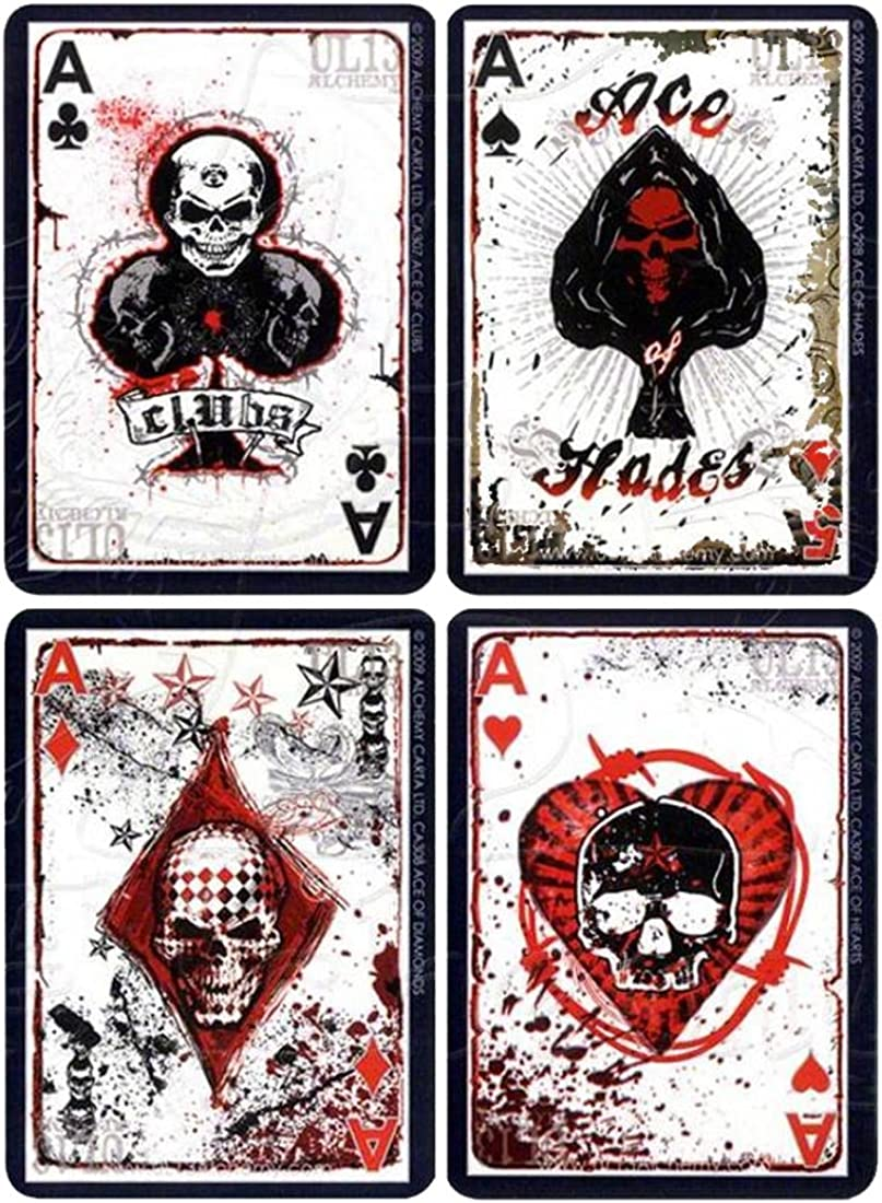 Official Alchemy England Poker Playing Cards Ul13 Tattoo Skulls Goth Gift Amazon Co Uk Clothing