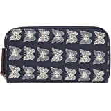 Pink Lining Wallet Cream Butterflies Changing Bags (Navy)