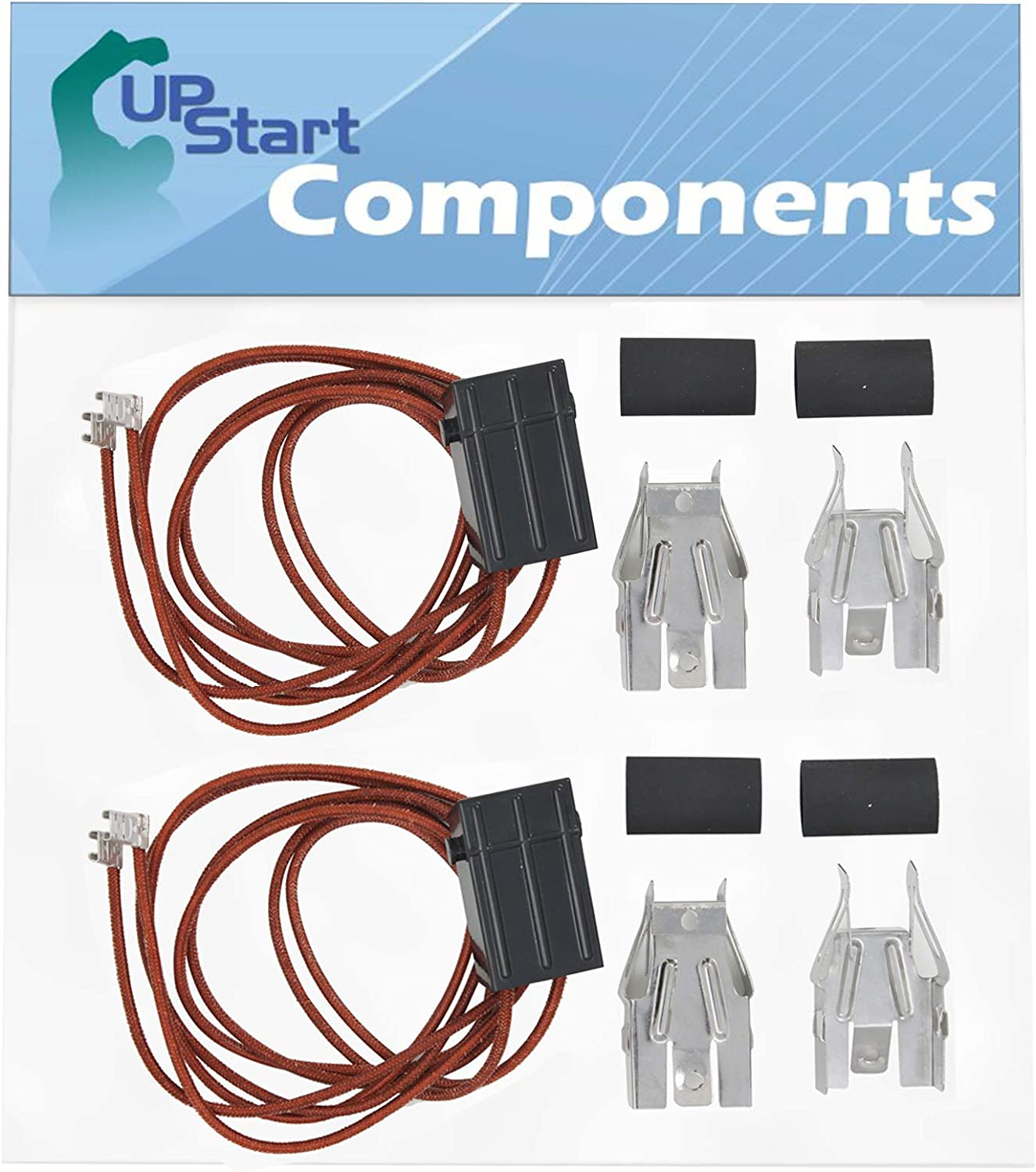 2 Pack WB17T10006 Terminal Block Kit Replacement for Whirlpool Rbd305pdq8, GE Jbp24bb4wh, GE Jbp24bb1wh, GE Jbp21bb1, GE Rb757bh1wh, GE Abs300j1ww, GE Rb757wh1ww, GE Jbp24wb4ww, GE Rb757bc2wh