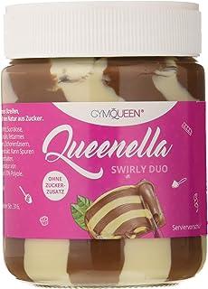 GymQueen Queenella Swirly Duo Crema Proteica de Cacao para Untar, con Avellanas y Sin Azúcar