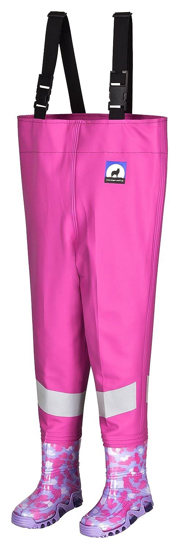 Kinderwathose AWN 32/33 pink mit breiten Reflexstreifen