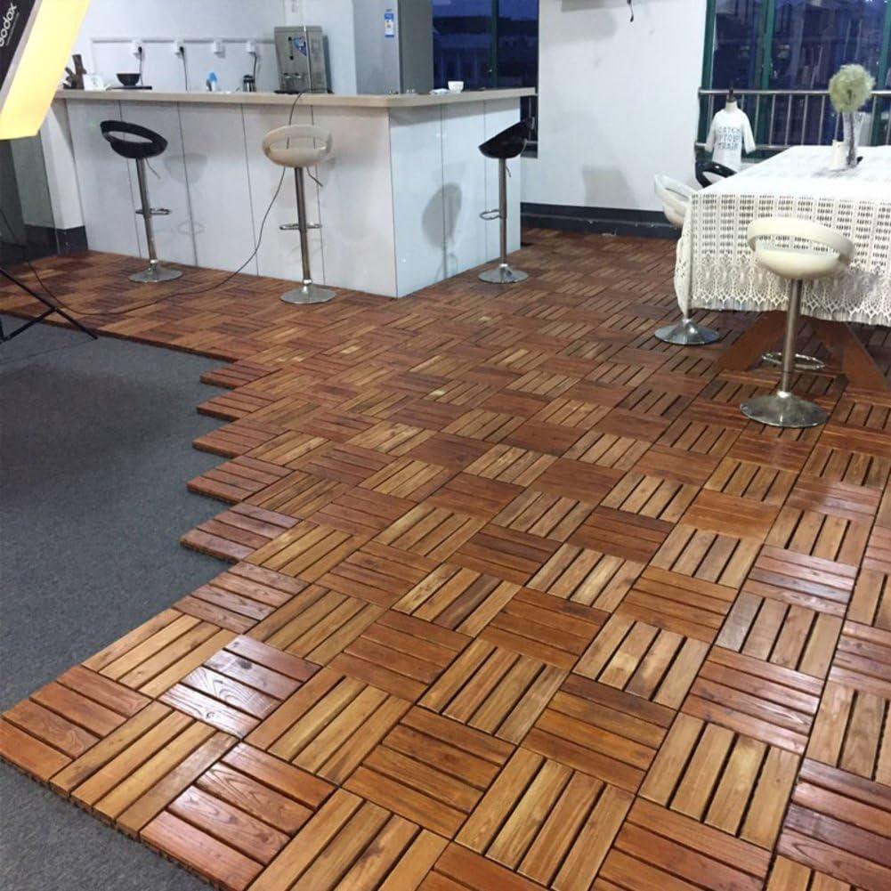 Suelo de madera maciza con mosaico para balcón, terraza, suelo de ...
