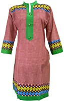 India Clothing Long Top for Ladies Printed Traditional Dresses