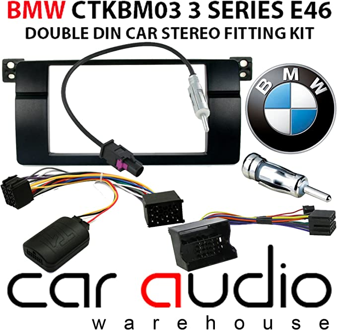 CTKBM03 Complete Double Din Stereo Fitting KIt For BMW 3 Series E46