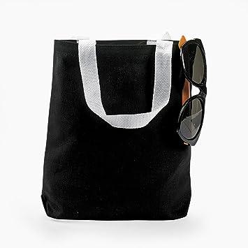 Amazon.com: BLACK CANVAS TOTE BAGS (1 DOZEN) - BULK: Health ...
