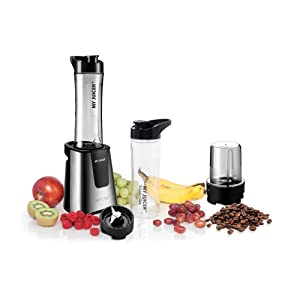 Ergo Chef My Juicer II Personal Juicer Smoothie Blender 300-Watt Stainless Steel (Personal Blender w/Grinder and Extra Sports Bottle)