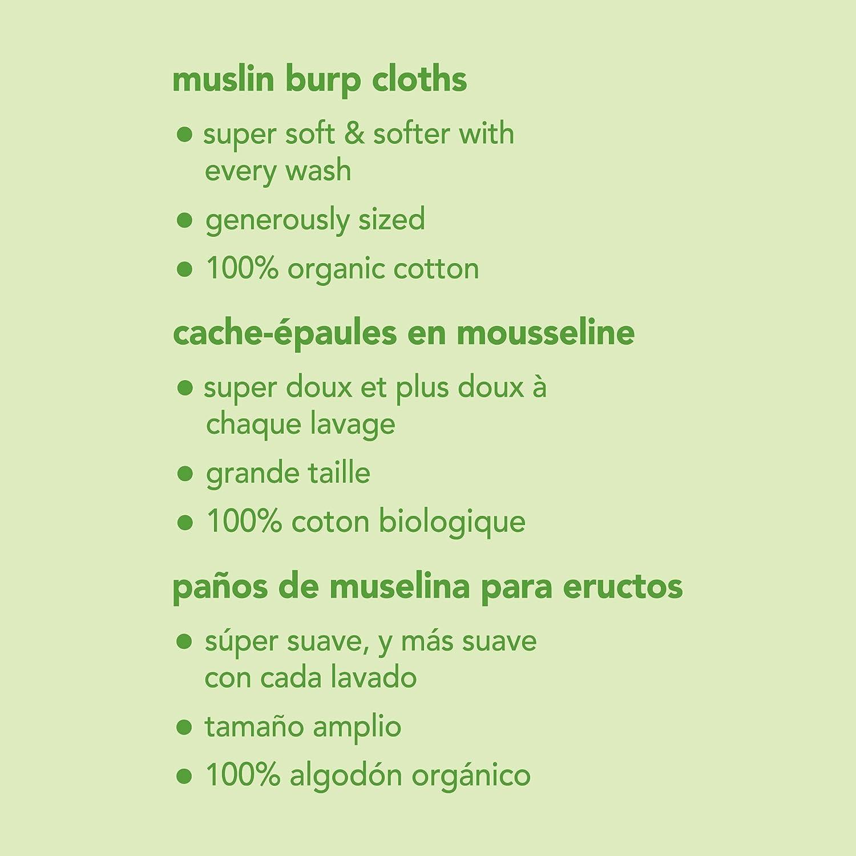 Green Sprouts Org/ánica Muselina pa/ños para beb/és Aqua