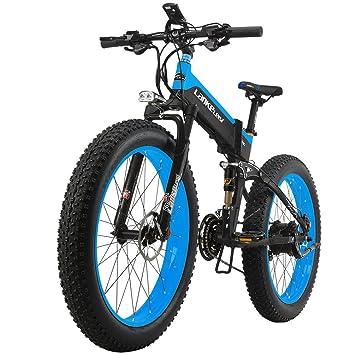 """Lankeleisi – Bicicleta eléctrica de montaña plegable – Ruedas de 26"""" x 4,0"""