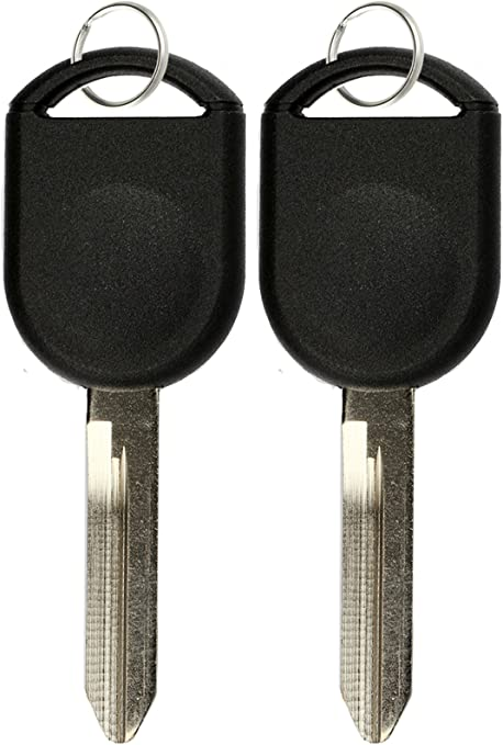 VOFONO Keyless Replacement Uncut Ignition Chipped Car Key Transponder Blank for Ford Lincoln Mercury Mazda P//N: H84-PT, H92-PT, 80 Bit