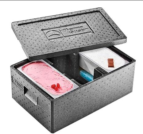 EPP - Caja térmica para helados, color negro, 59.5 x 39.5 x 26.6 cm, Negro , 1: Amazon.es: Industria, empresas y ciencia