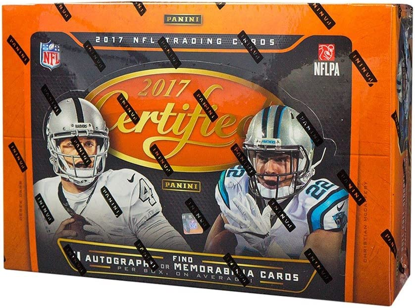 Amazon Com 2017 Panini Certified Football Hobby Box Sports Collectibles
