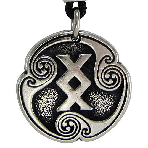 Ingwaz Inguz Norse Viking Rune Of Completion Pendant Necklace