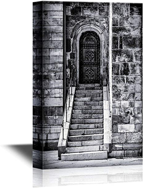 Amazon Com Doors Canvas Wall Art Print Poster Painting Cathedral Door And Steps Lund Sweden Gallery Wrap Modern Home Decor Stretched Framed Ready To Hang 16x24inch Posters Prints