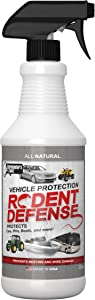 Rodent Defense Vehicle Natural Repellent for cars, trucks suv, RV Boats, peppermint and other plant based oils to deter rats, mice and squirrels