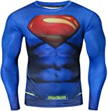 Red Plume Men's Compression Sports Long Sleeves Shirt Cool Dry Running Tee Athletic Shirts