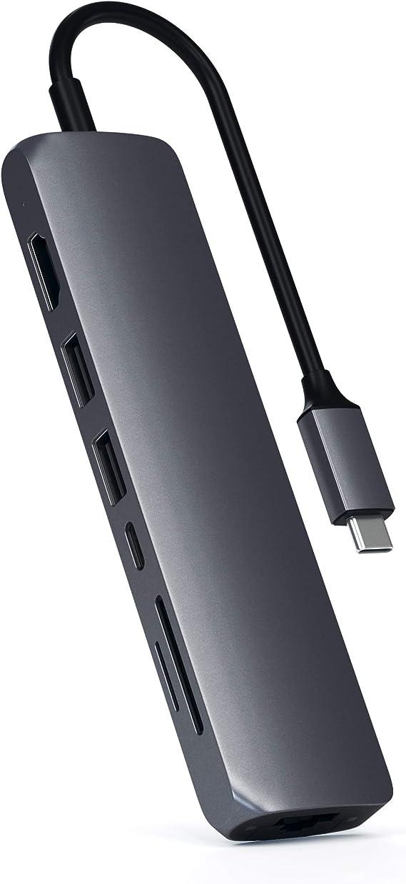 Satechi Schlanker Usb C Multi Port Adapter Mit Ethernet Computer Zubehör
