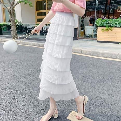 MEILIDE Falda para Mujer Falda Plisada de Gasa Falda de Hadas de ...