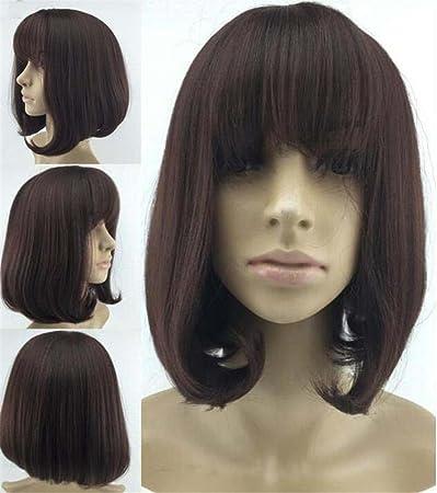 Amazon Com Korea Women S Haircut Bob See Through Frisette Hair Wigs
