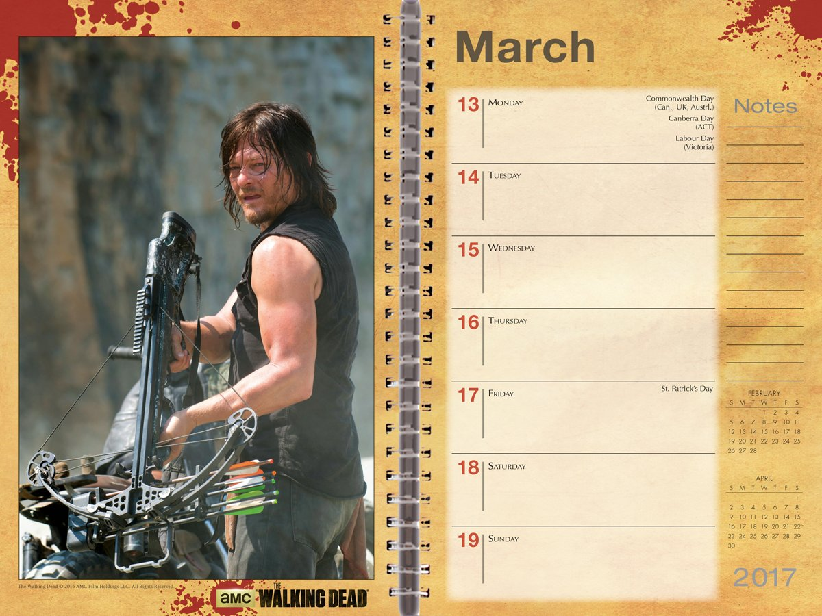 WALKING DEAD AMC 2017 ENGAGEMENT PLANNER (Desk Diary ...