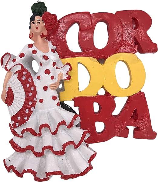 3D Cordoba España Dancer Imán de nevera para recuerdos de turistas pegatinas hogar y cocina decoración imán para nevera de China: Amazon.es: Hogar