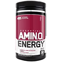 Optimum Nutrition Amino Energy Preworkout Energy Performance Supplement with Beta Alanine, Caffeine, Amino Acids and Vitamin C. Performance Supplement by ON - Cherry, 30 Servings, 270g
