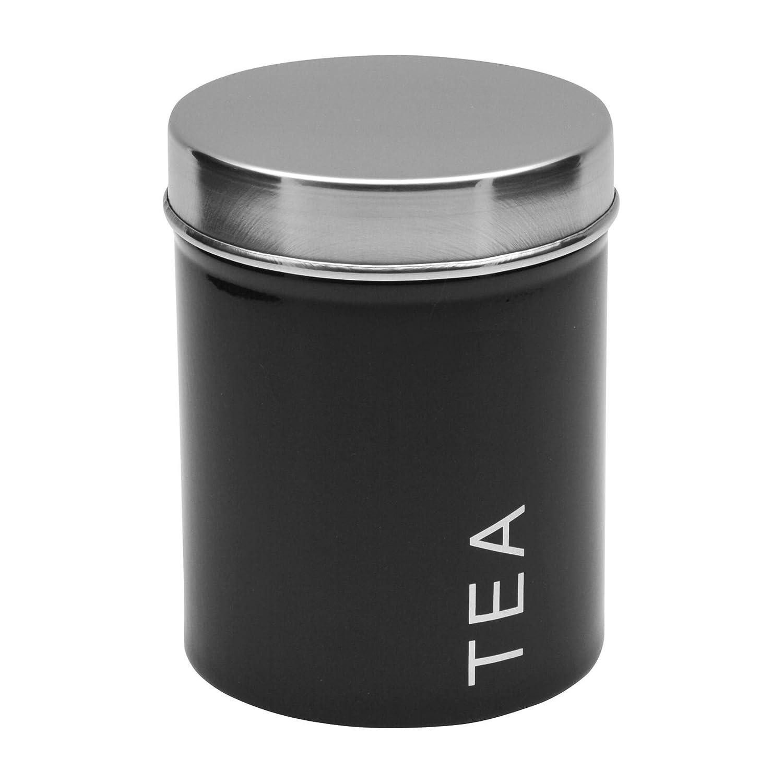 Boîte à thé en métal - noir Harbour Housewares