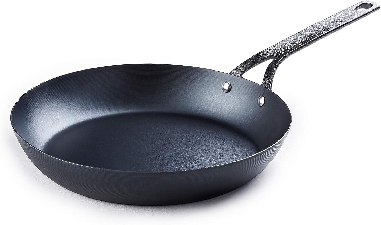 BK Cookware CC002354-001 Black Carbon Steel Skillet, 12'
