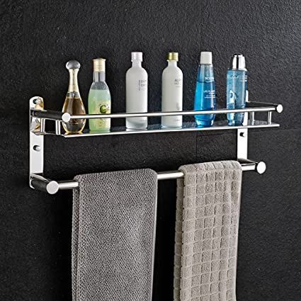 GJ-Shelf Estante para Cuarto de baño 304 Estante para Toallas de Acero Inoxidable Estante