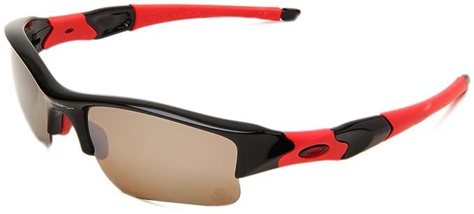 Oakley Mens Flak Jacket 24-216 Polarized Rimless Sunglasses,Polished Black  Frame Titanium c619836b0d59