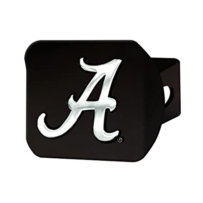 "FANMATS 21024 Team Color 4-1/2"" x 3-3/8"" Alabama Hitch Cover (Black): Automotive"