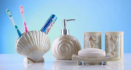 yiyida Colección de baño estilo mediterráneo set 5pcs Resina Materiales  Home – Set de accesorios para b113d4fb806f