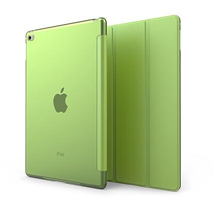 KHOMO Funda iPad Mini 4 - Carcasa Verde Semi Transparente con Soporte y Smart Cover para Nuevo Apple iPad Mini 4 - Clear Green