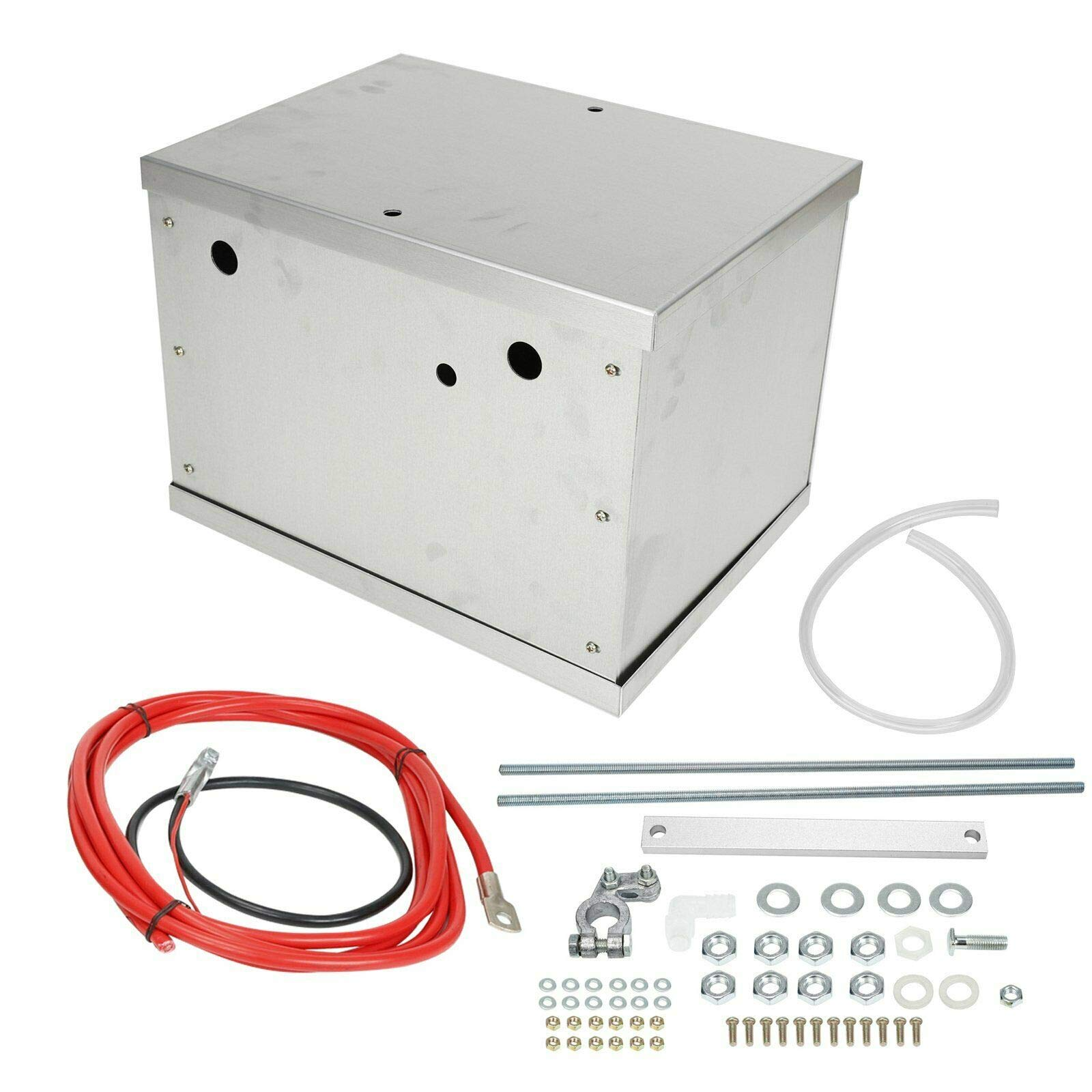 Complete Aluminum Battery Box Relocation Kit For 1979-2014 Ford Mustang by BLACKHORSE-RACING