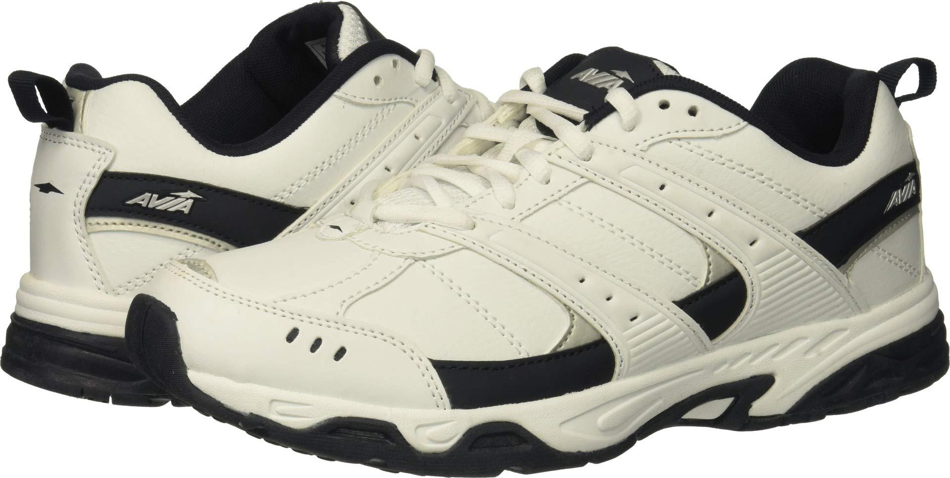 Avia Men's Avi-Verge Sneaker, White/True Navy, 12 Wide US