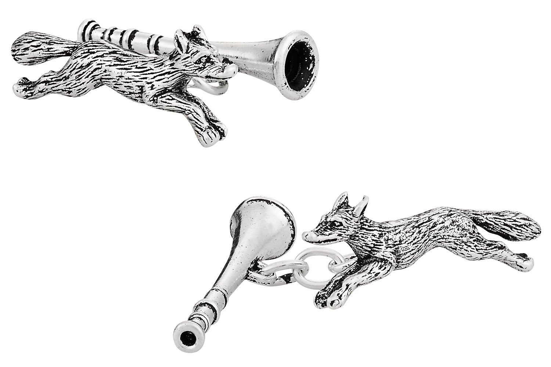 Fox & Horn Cufflinks in Sterling Silver