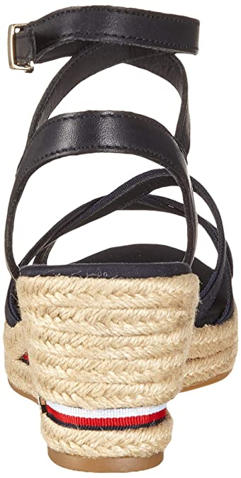 3615badd6 Tommy Hilfiger Women s Iconic Elba Corporate Ribbon Platform Sandals   Amazon.co.uk  Shoes   Bags