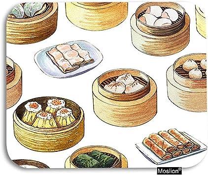 ELIST Comida Alfombrilla de ratón Comida China Dim Sum Cocina asiática en Caja de Madera Alfombrilla de ratón para Juegos Alfombrilla de Goma Grande: Amazon.es: Electrónica