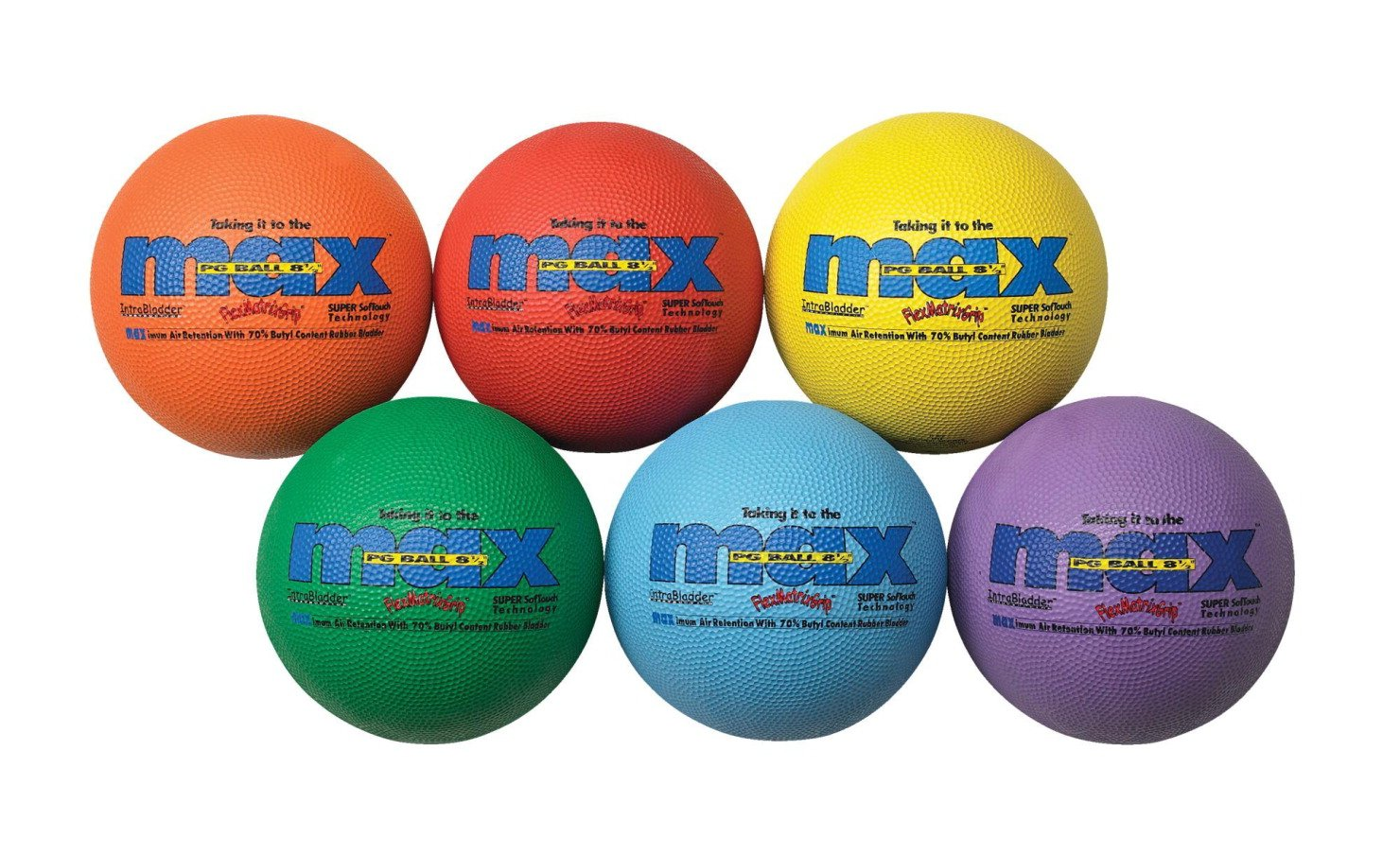 SportimeMax FlexMatrix Playground Balls - 8 1/2 inch - Set of 6 by Sportime