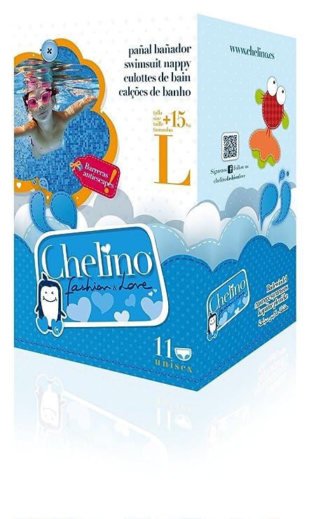 CHELINO PAÑAL BAÑADOR INFANTIL FASHION LOVE TL +15 KG 12 UDS