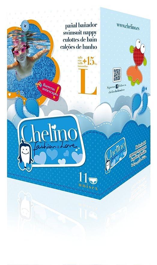 CHELINO PAÑAL BAÑADOR INFANTIL FASHION LOVE TL +15 KG 12 UDS: Amazon.es: Salud y cuidado personal