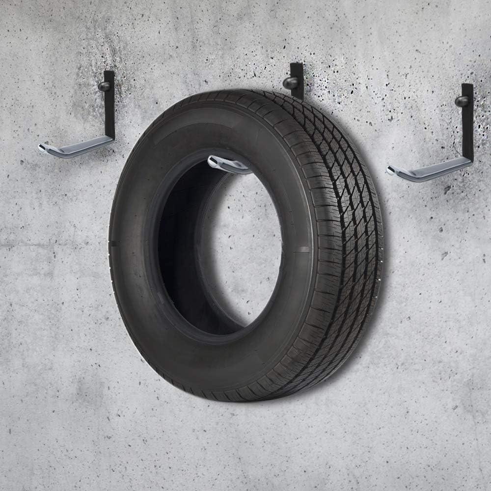 8 St/ück, schwarz HENGMEI 8X Reifenhalter Autoreifen Wandhalter Reifenst/änder Wandhalterung Reifenregal belastbar bis 25kg f/ür Garage