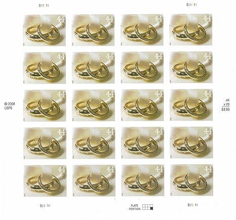 Amazoncom Wedding Rings Sheet of Twenty 44 Cent Stamps Scott 4397