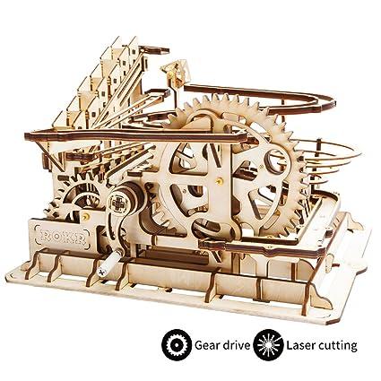 amazon com robotime 3d wooden laser cut puzzle diy assembly craft
