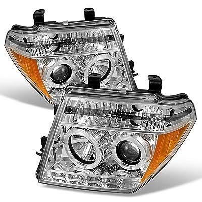 ACANII - For 2005-2008 Nissan Frontier 05-07 Pathfinder LED Halo Chrome Housing Projector Headlight Headlamp Left+Right: Automotive