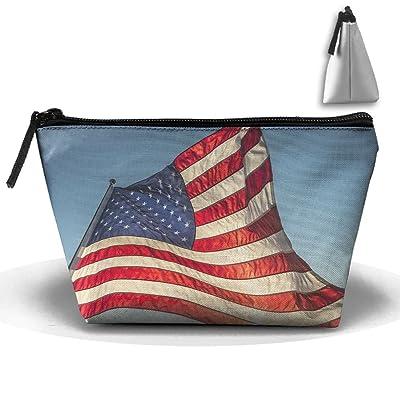 high-quality Chion Vintage American Flag Hand Bag Pouch Portable Storage Bag Clutch Handbag