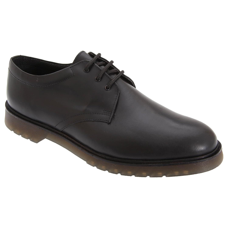 TALLA 48 EU. Grafters - Zapatos Uniformes de Piel Suave Brillante con Suela con cámaras de Aire para Hombre - Trabajar/Boda/Fiesta