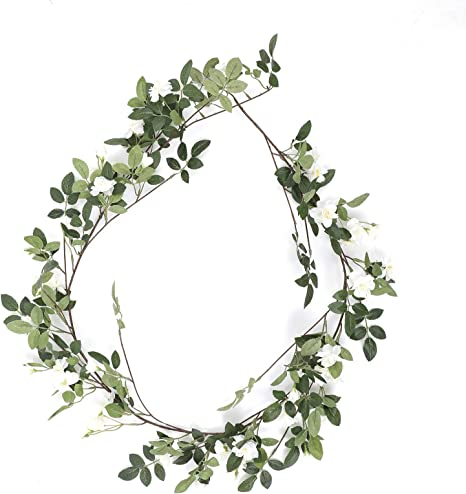 Ivy Leaf Garland 2.4m 52 Leaves Greenery Artificial Flowers Wedding Party
