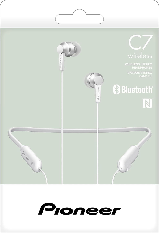 Pioneer C7 in-Ear Auriculares inalámbricos con Banda para el Cuello - Blanco: Amazon.es: Electrónica