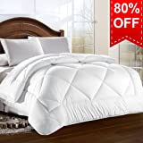 Queen Comforter Duvet insert with Corner Tabs for Duvet Cover 2100 Series, Snow Goose Down Alternative, Hotel Collection Comforter Reversible, Hypoallergenic Choice, Snow White, 88 by 88 inches
